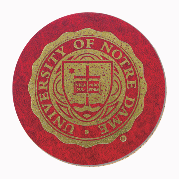 Custom Leatherette Coaster - 4 inches round