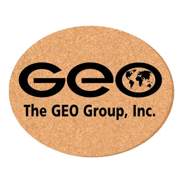 Promotional Solid Cork Coaster - oval