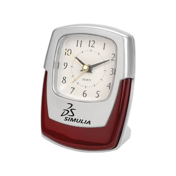 Promotional Wood Accent Desk Clock