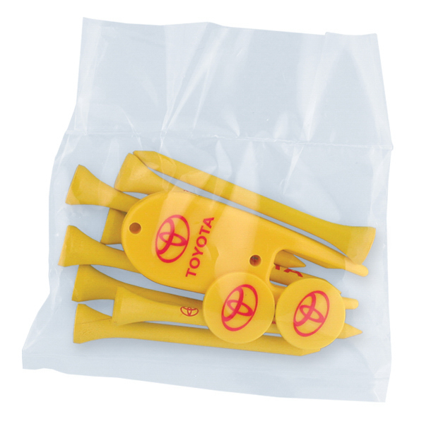 Printed Golf Tee Poly Packet