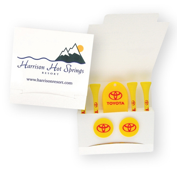 Promotional Golf Tee Matchbook Packet