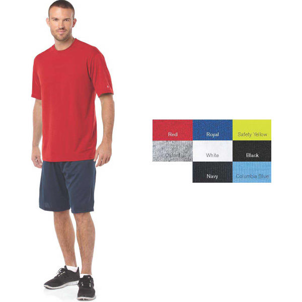 Imprinted Badger Short Sleeve Cotton-Feel Performance T-Shirt