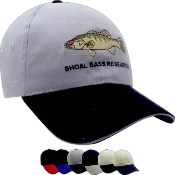 Promotional Brushed Two-tone cotton Twill Sandwich Cap