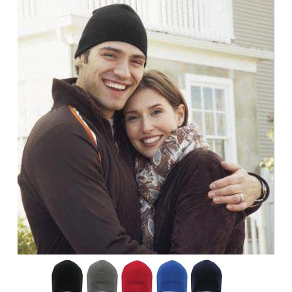 Printed Fleece Beanie