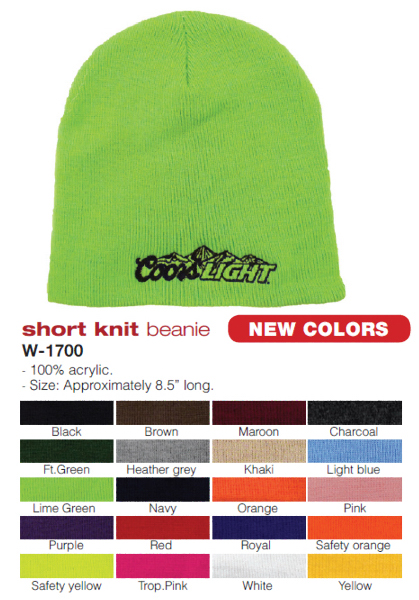 Printed Short Knit Beanie