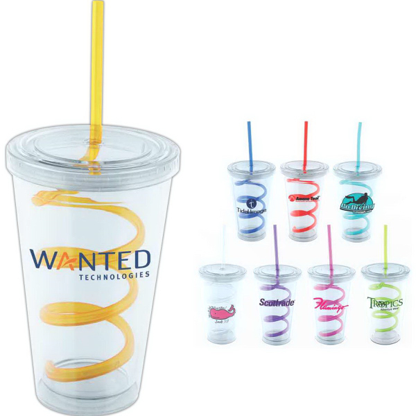 Personalized Swirl 16 oz Tumbler