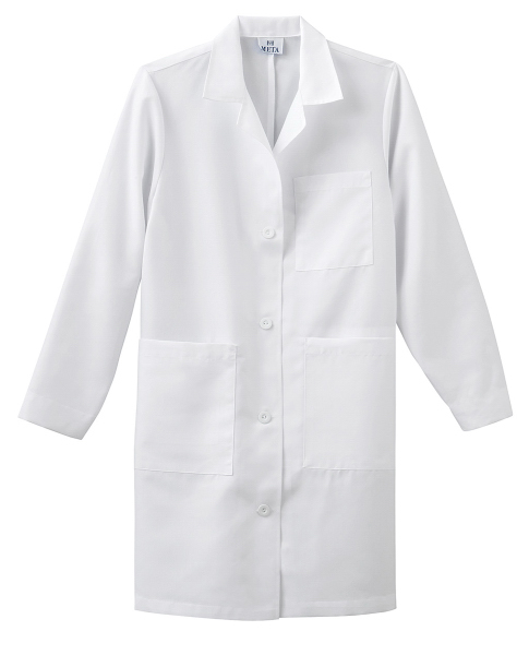 "Custom Meta Ladies 37"" Labcoat"