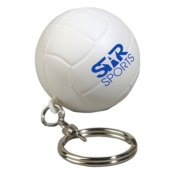 Customized Volleyball Stress Reliever Key Chain