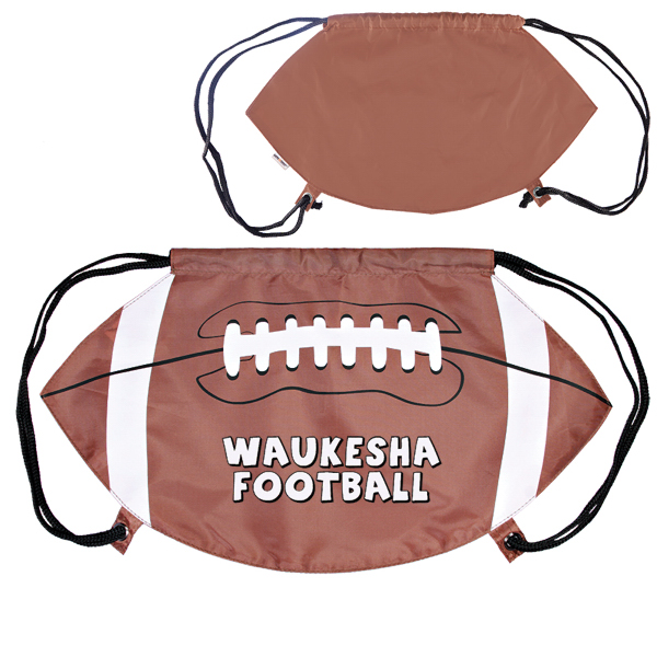 Promotional GameTime! (R) Football Drawstring Backpack