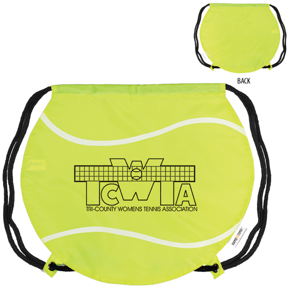 Printed GameTime! (R) Tennis Ball Drawstring Backpack