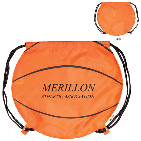 Printed GameTime! (R) Basketball Drawstring Backpack