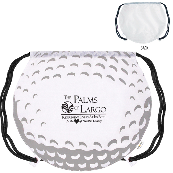 Imprinted GameTime! (R) Golf Ball Drawstring Backpack