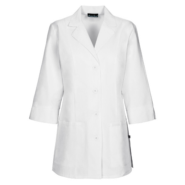 Customized SA1470 Women's Three Quarter Sleeve Lab Coat  in White