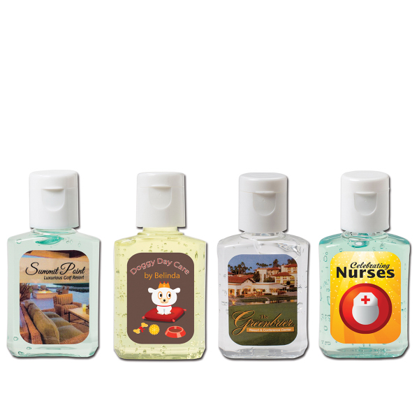 Printed 1/2 oz. Hand Sanitizing Gel Flip-Top Bottle
