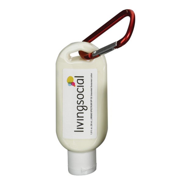 Printed 1.9 oz SPF 50 Sunscreen w/ Carabiner