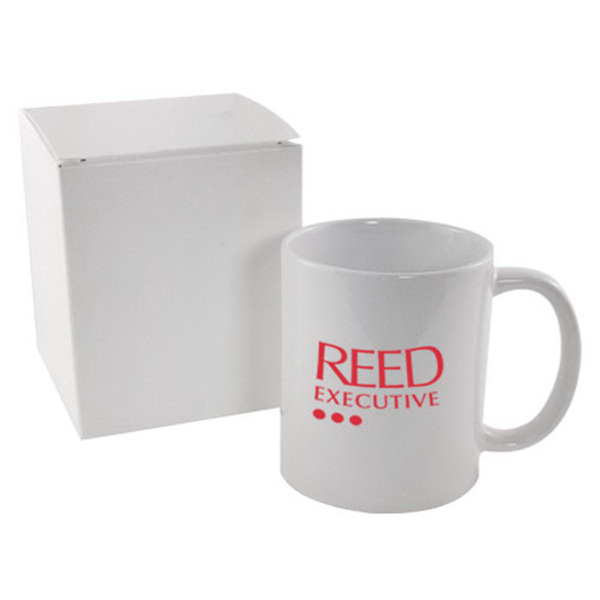 Imprinted 11 oz. Mug in white gift box