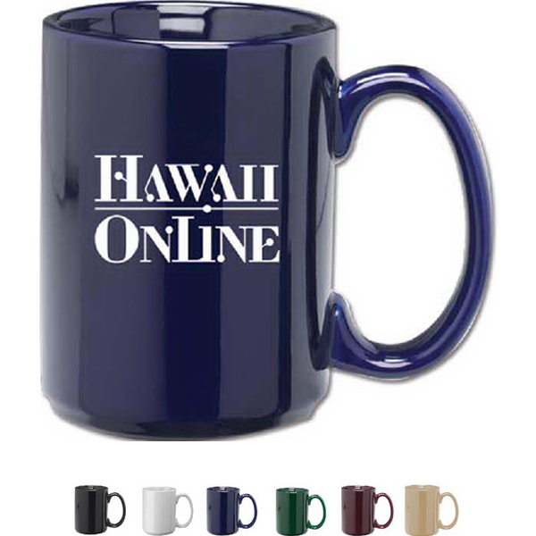 Imprinted 15 oz. Ceramic Coffee Mug