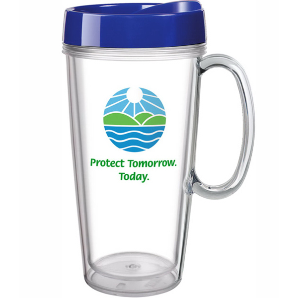 Customized 16 oz Clear Concept Mug With Handle