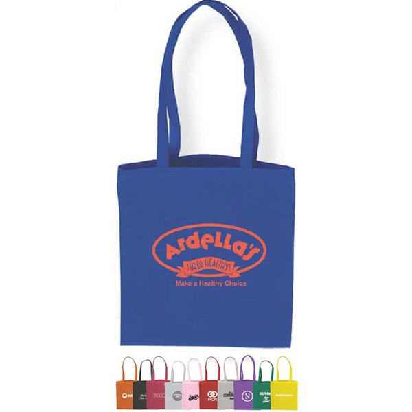 "Promotional 18"" Handles Flat Tote Bag"