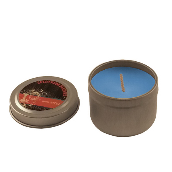 Imprinted 2 oz. Round Tin Soy Candle (Ocean Mist)- Eco friendly Candle