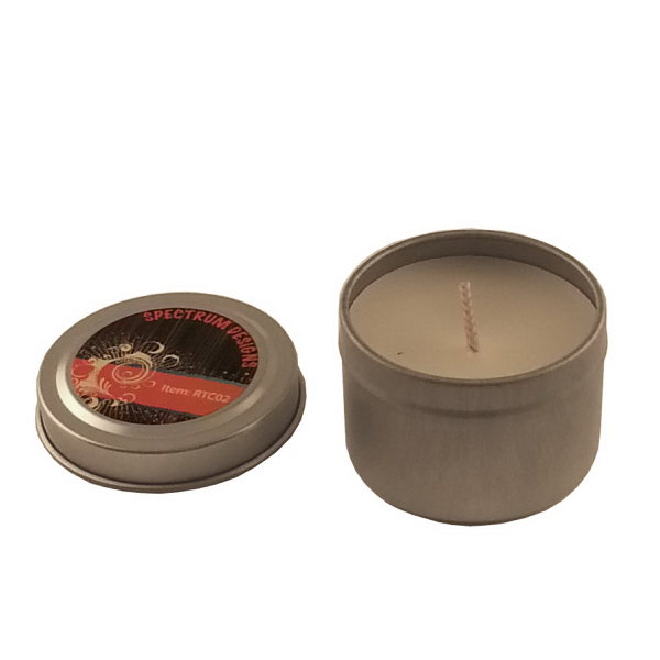 Custom 2 oz. Round Tin Soy Candle (Vanilla) - Eco friendly