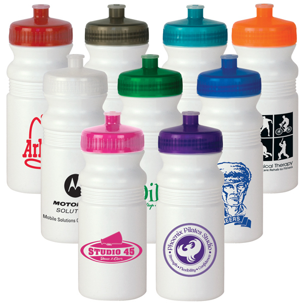 Custom 20 oz. White MegaMouth Water Bottle - Mega Special