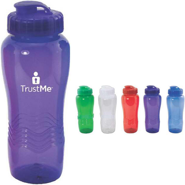 Promotional 26 oz translucent water bottle with sipper lid