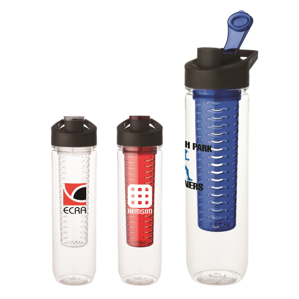 Personalized 28 oz Tritan (TM) water bottle with infuser