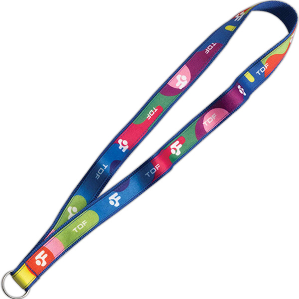 """Personalized 3/4"""" Imported Polyester Lanyard with Dye Sublimated Ribbon"""