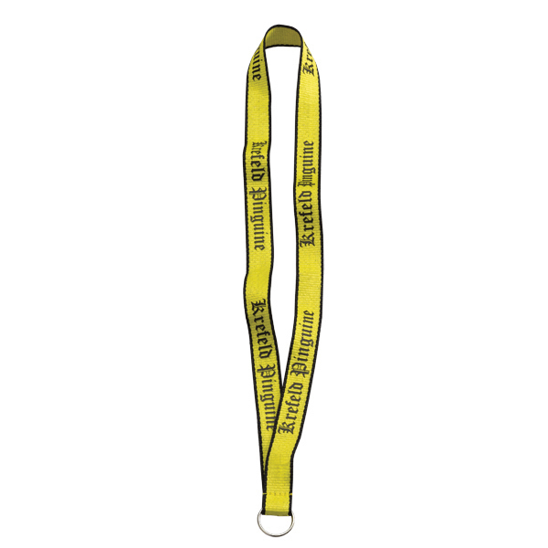 "Imprinted 3/4"" Imported Polyester Lanyard with Woven Border"