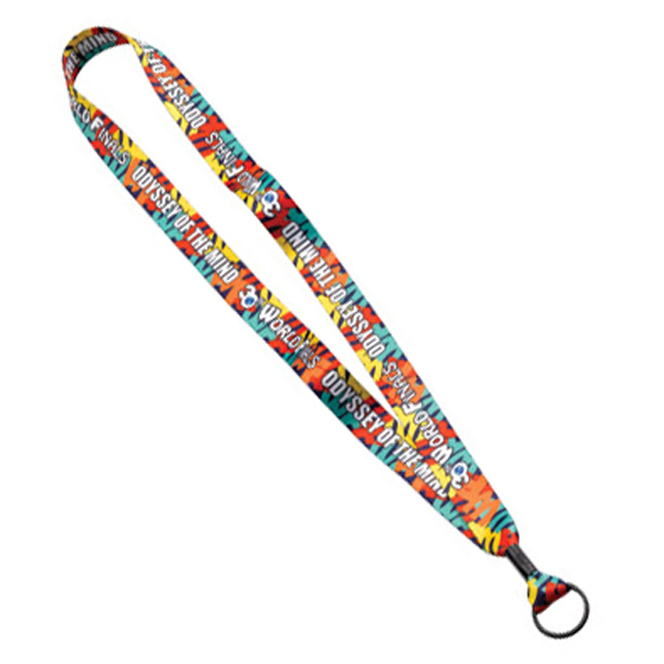 "Promotional 3/4"" Lanyard with Metal Crimp & Metal Split-Ring"