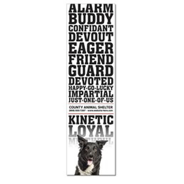 "Personalized 3.5"" x 12.25"" Square Corners Magnet, 25 mil"