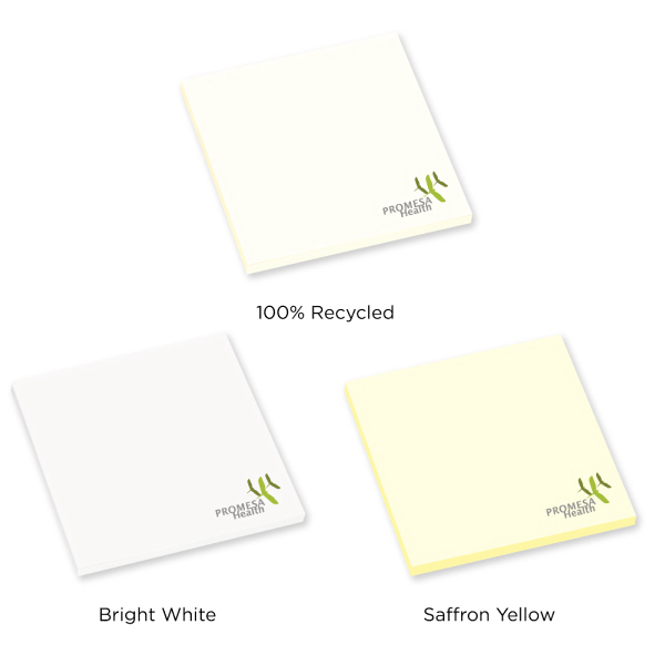 "Personalized 3"" x 3"" Adhesive Notepad - 25 Sheets"