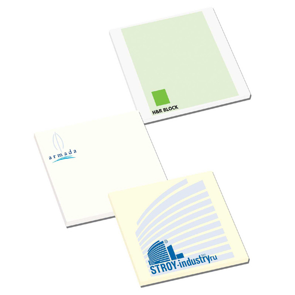 "Imprinted 3"" x 3"" Earth Friendly Adhesive Notes"