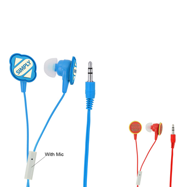 Customized 3D Logo Earbuds With Microphone