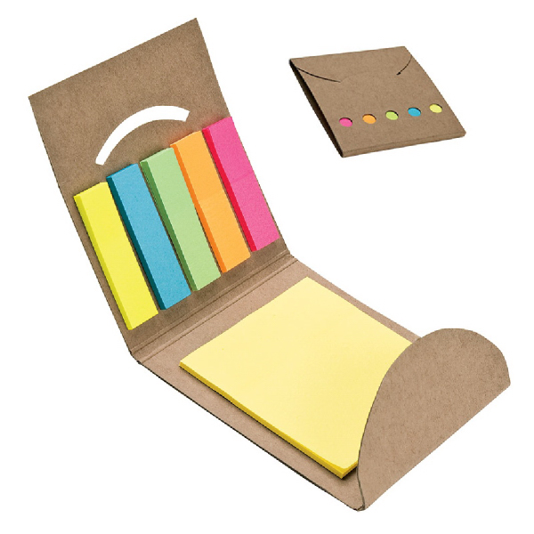 Printed 5-Color Sticky Note & Flag Set