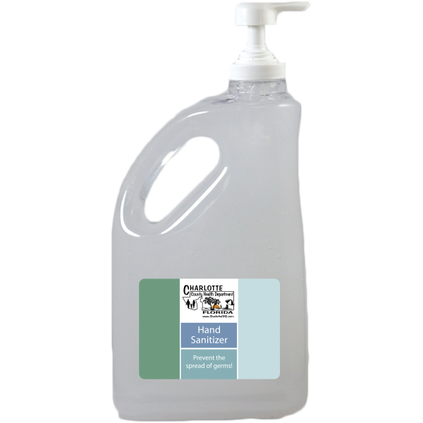 Custom 64 oz. Antibacterial Hand Sanitizer Jug
