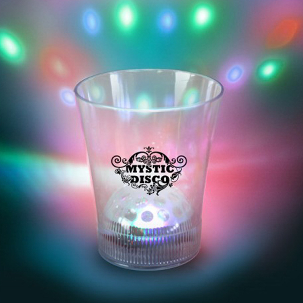 Personalized 8 oz. Disco Glass