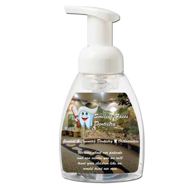 Imprinted 8 oz. Unscented Alcohol Free Foaming Hand Sanitizer