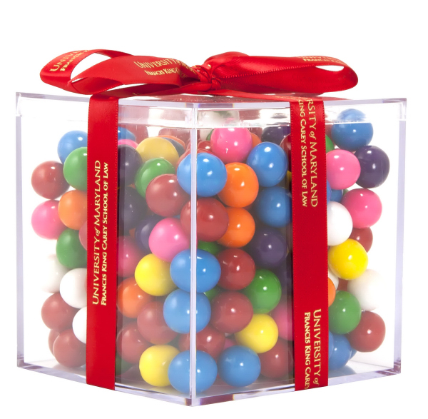 Customized Acrylic Cube with Malt Balls