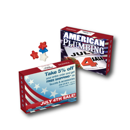 Personalized Advertising Mint/Candy/Gum Box with Candy Stars