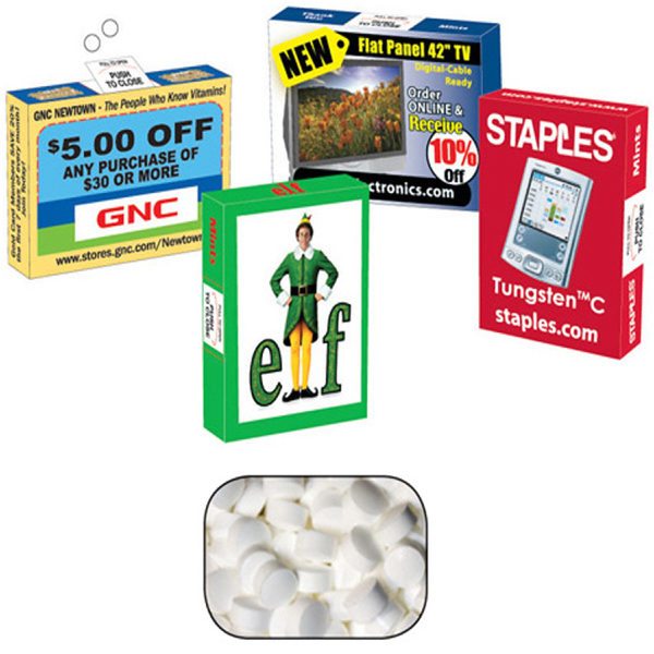 Personalized Advertising Mint/ Candy & Gum Box with Sugar Free Mint