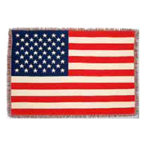 Imprinted American flag throw