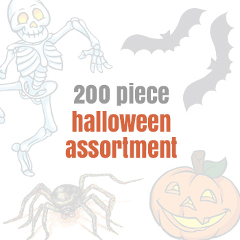 Printed Assorted Halloween Temporary Tattoos (200 tattoos)