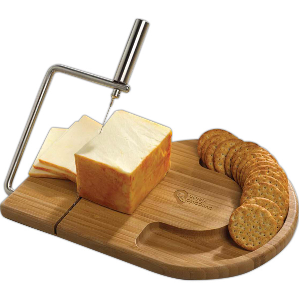 Printed Bamboo Wire Slice Cheese Set