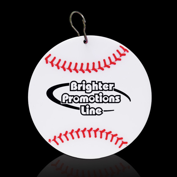 "Customized Baseball 2 1/2"" Plastic Medallion"