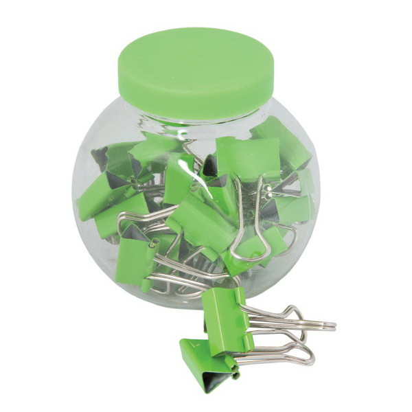Promotional Binder Clips In A Container