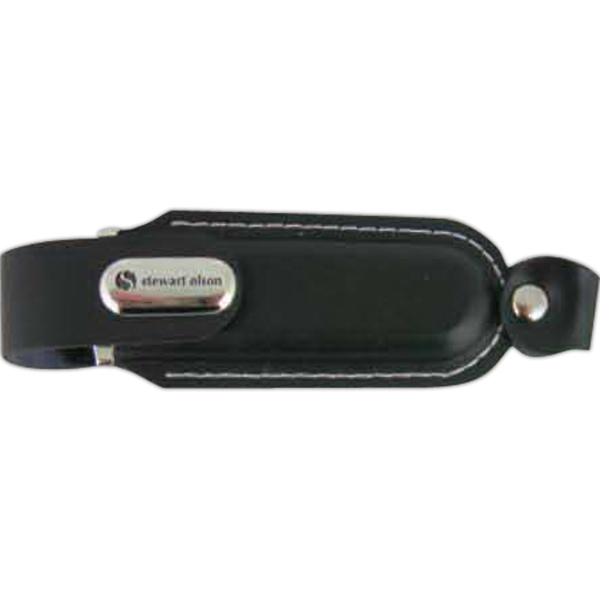 Customized Black Leather USB Flash Drive