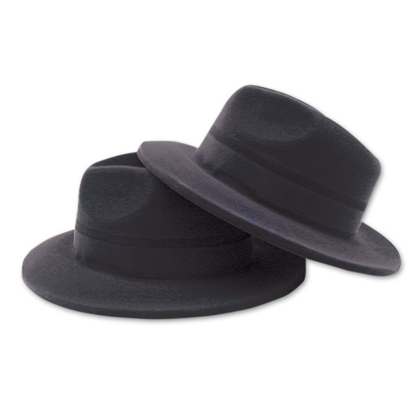 Personalized Black Velour Gangster Hats