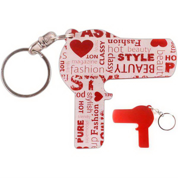 Promotional Blow Dryer Bottle Openers/Key Chains